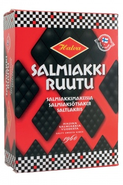Salmiakkiruutu 250 G / Salmiak / Salty Licorice