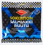 Sokeriton Salmiakkiruutu 90 G (24 pussin erä) / Sockerfri Salmiak / Sugar Free Salty Licorice (24 pcs)